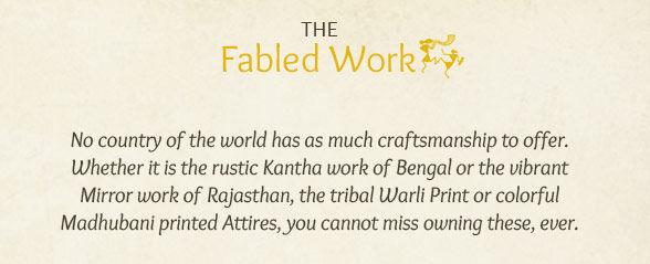 Kantha work, Gota Patti, Mirror work, Warli & Madhubani printed Attires. Shop!