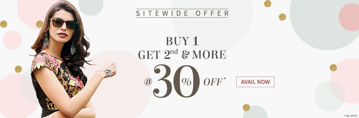 Flat Explosive Sitewide Offer of Buy 1 to get 30% Off on all other items. Avail now!