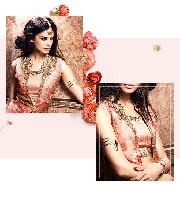 Salwar Kameez with Floral motifs for Weddings. Shop!