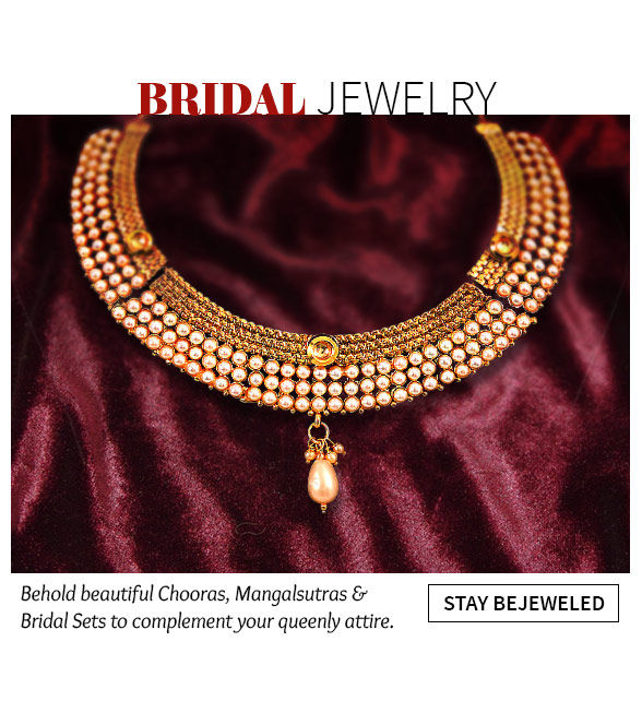 Bridal Chooras, Mangalsutras and Bridal Sets in Polki, Pearls and Stones. Shop!