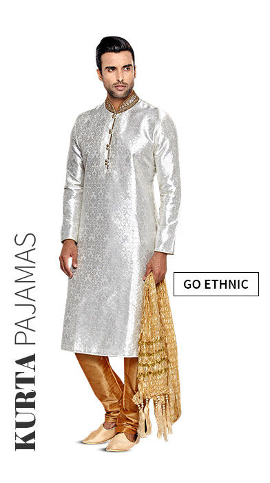 Embroidered Kurta Pajamas for men at Weddings. Shop!