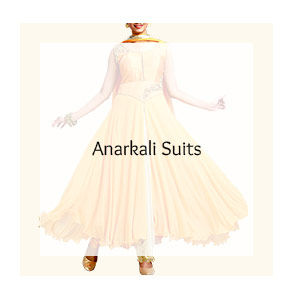 Fluid Anarkalis in Embroidered Georgette, Net and more. Shop!