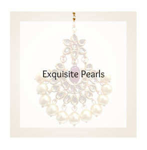 Pearl Jewelry set with Stones, Beads & more. Shop!