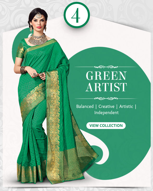 Beautiful range of Sarees, Salwar Kameez, Lehengas, Indo Westerns & Add-ons in shades of Green. Shop!