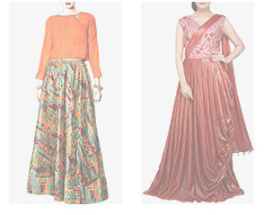 Abaya style Suits, Anarkalis, Jacket style Cholis, Long Kurtas, Gowns & more. Shop!
