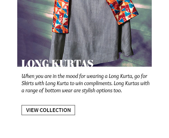 Elongated Silhouettes: Explore Long Kurtis with Skirts and Palazzos. Shop!