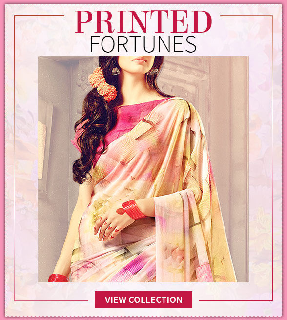Stylish Sarees with striking Printed Pallus for Casual or Office Wear. Stun!