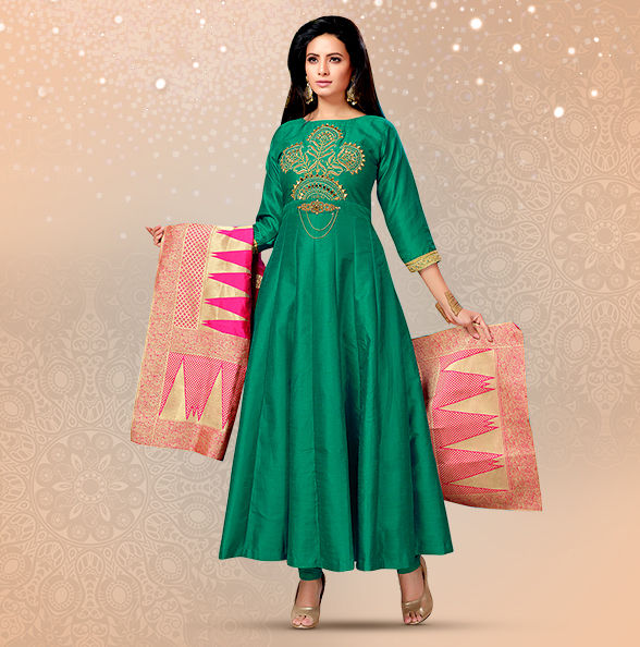 Baya Gifts: Art Silk Sarees, Anarkalis, Kurta Pajamas, Kidswear, Jewelry & more. Shop!
