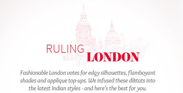 London's trends in Asymmetrical hemlines, Red ensembles, Patchwork & more. Shop!