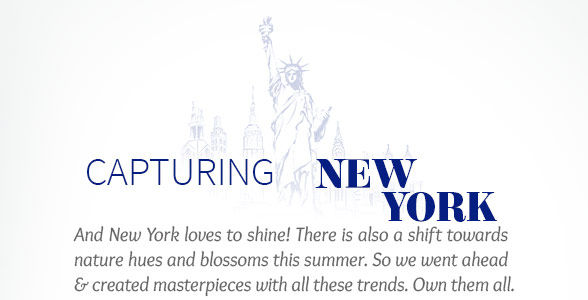 New York's trends in Metallic shimmer, Floral Prints, Blue hues & more. Shop!
