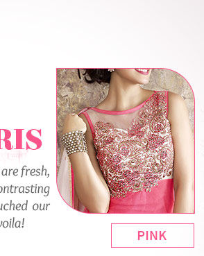 Paris' trends in Anarkalis, Pink ensembles, Color Block Attires & more. Shop!