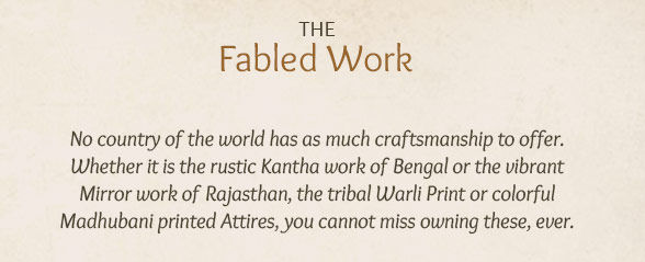 Kantha work, Gota Patti, Mirror work, Warli & Madhubani printed Attires. Shop!