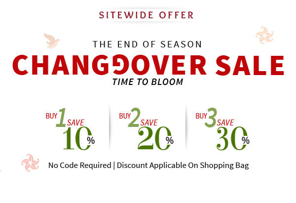 Changeover Sale returns with Up to 30% Off on everything site wide. Start shopping!