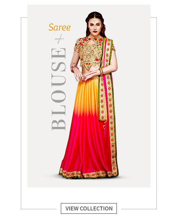 Add stylish Jackets, Capes, Trousers & Designer Blouses to your Saree Closet. Shop!