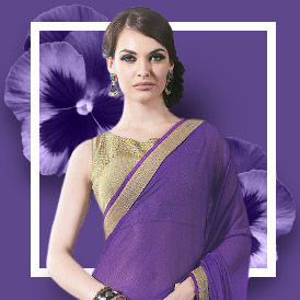 Pantone Color Ultra Violet: Ethnic and fusion ensembles from India. Shop!