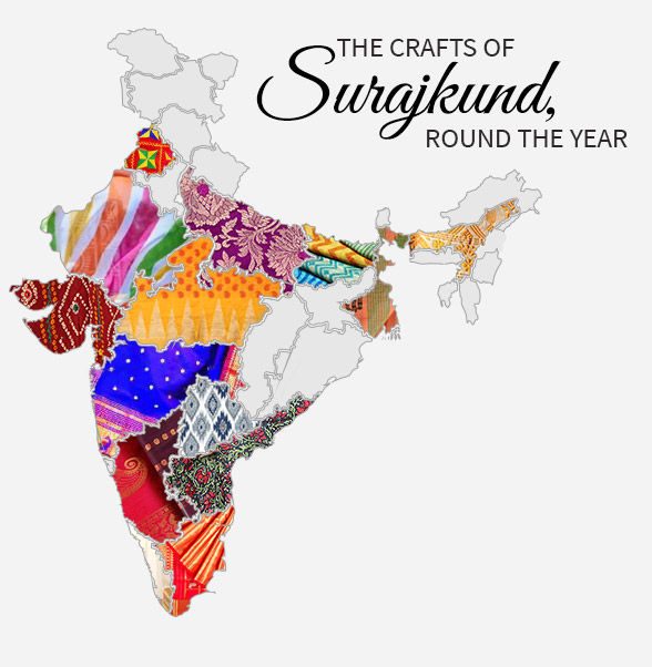 Surajkund range of Chanderis, Tant, Kanchipurams, Bangalore Silk and more. Shop!