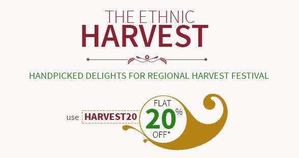 Flat 20% Off on Specialties of Gujarat, Punjab, Bihar, UP, Bengal & Tamil Nadu. Explore!