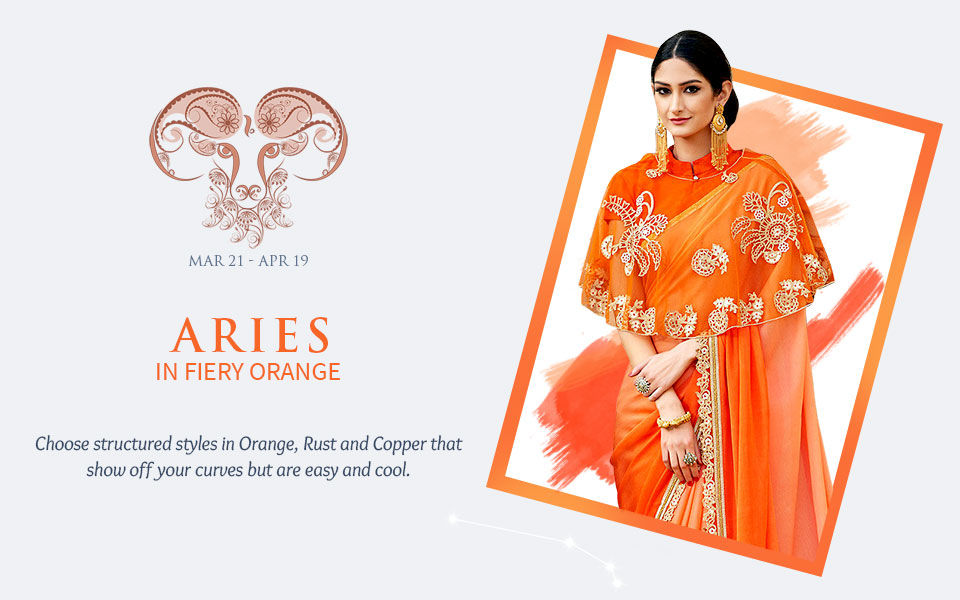 2018 Zodiac Colors: Women's ensembles in shades of Orange. View!
