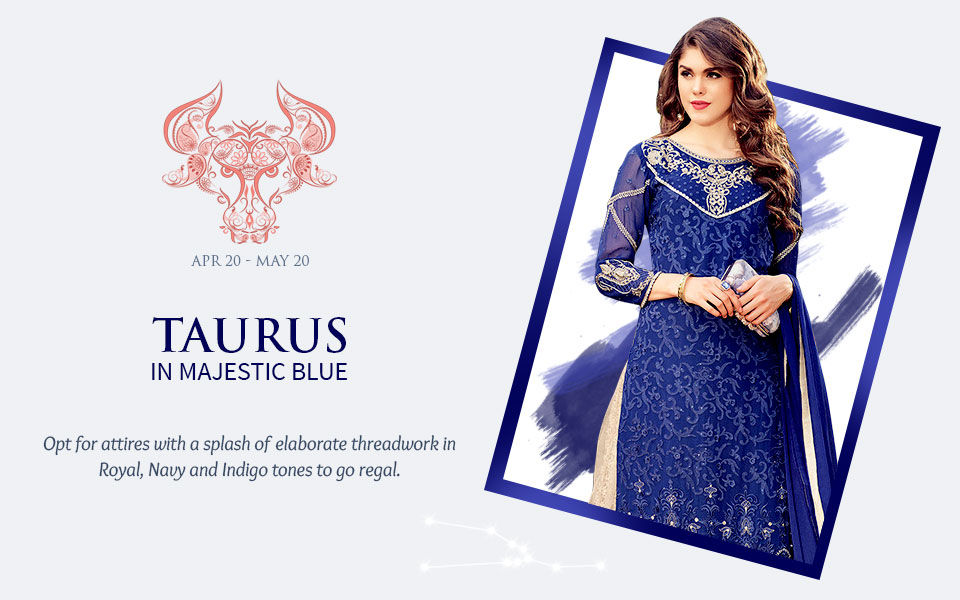2018 Zodiac Colors: Women's ensembles in shades of Blue. View!