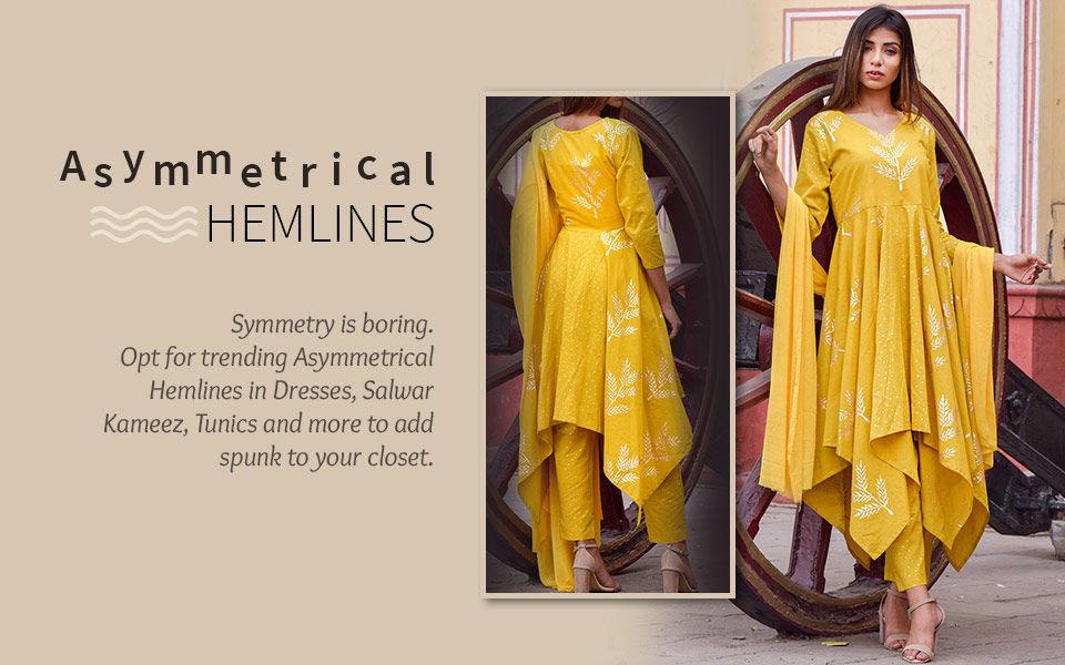 Ensembles with Asymmetrical Hemlines. Shop!