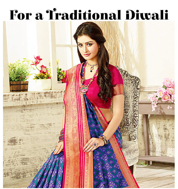 64983561e4 Traditional Diwali: An array of festive clothes in traditional hues. Shop!