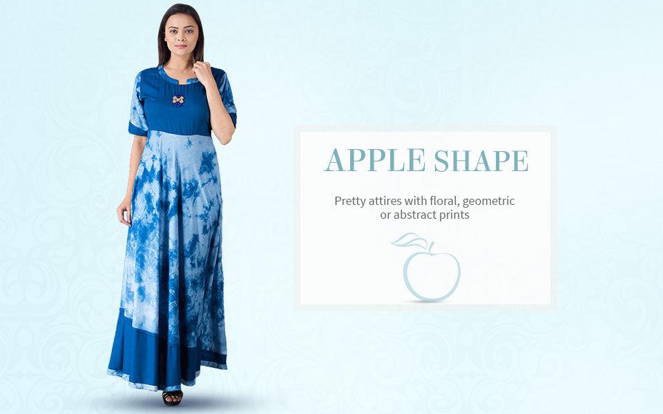 Apple Shape Tops, Long Kurta's, Tunics and Salwar Kameez. Shop now!