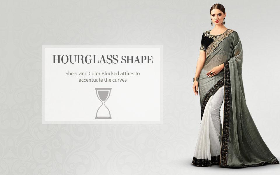 Ethnic fashion ensembles for hourglass body shape