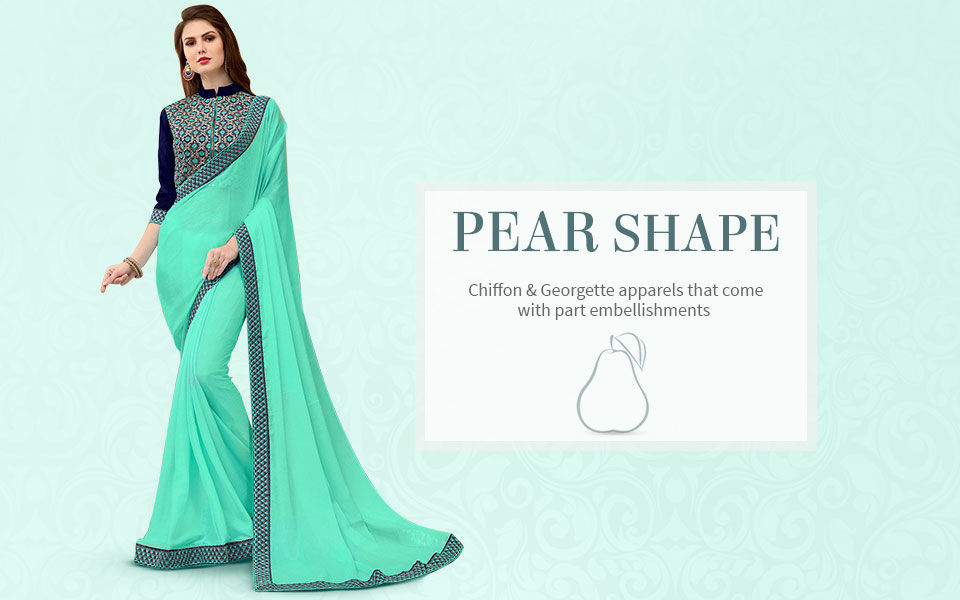 Sarees, Salwar Kameez, Tunics in Chiffon and Georgette. Shop!