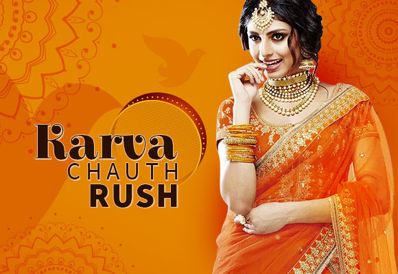 Karva Chauth Ready-to-Ship Collection of sarees, abayas & lehengas. Shop!