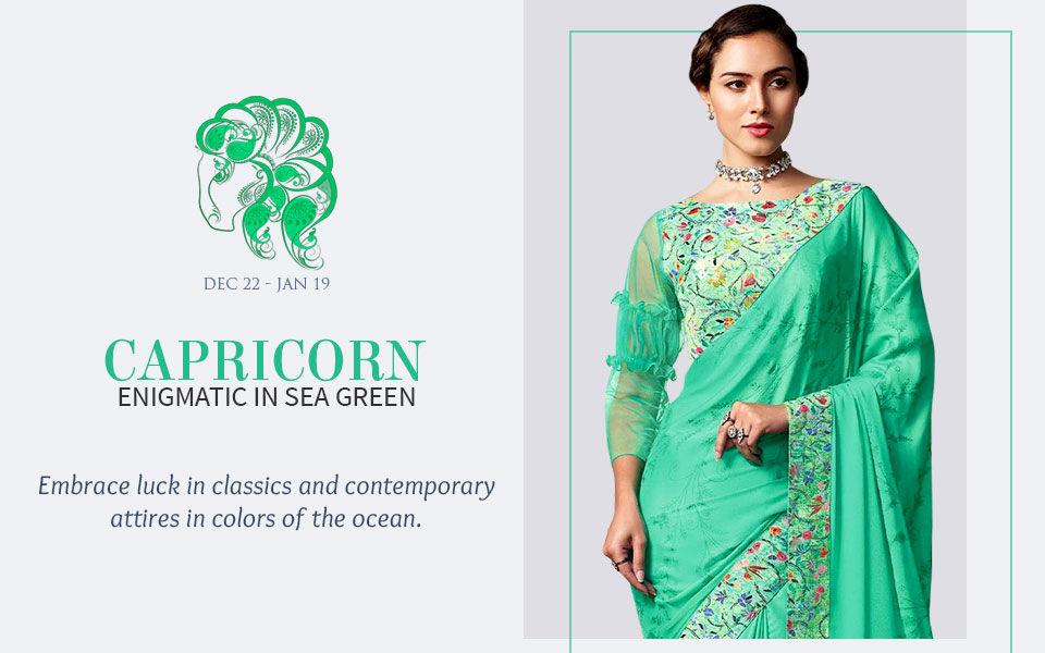 Sea Green attires for Capricorn. Shop!