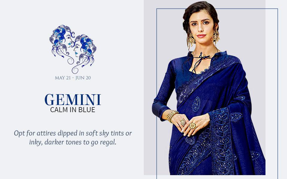 Blue attires for Gemini. shop!