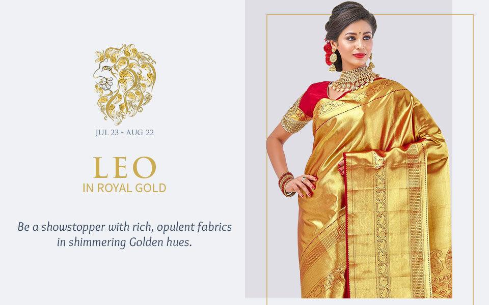 Golden attires for Leo. Shop!