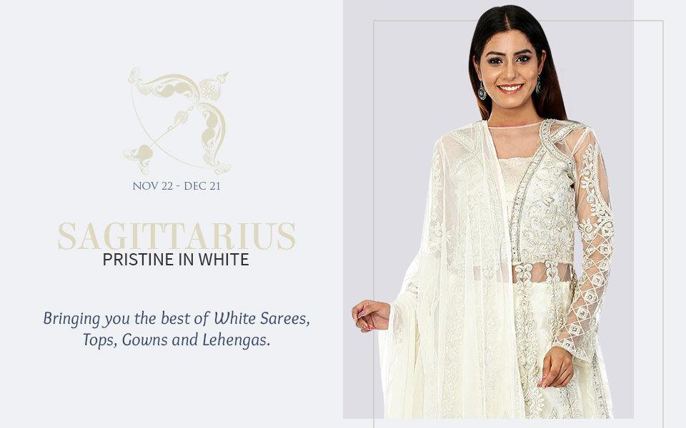 White attires for Sagittarius. Shop!