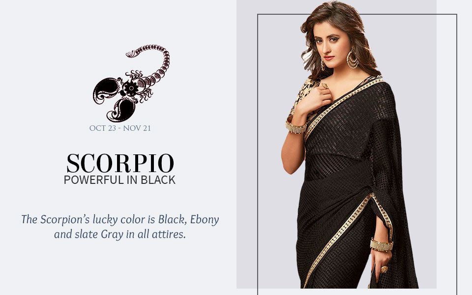 Black attires for Scorpio. Shop!