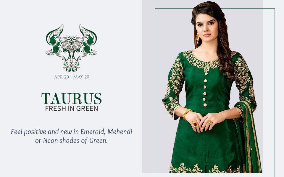Green attires for Taurus. Shop!