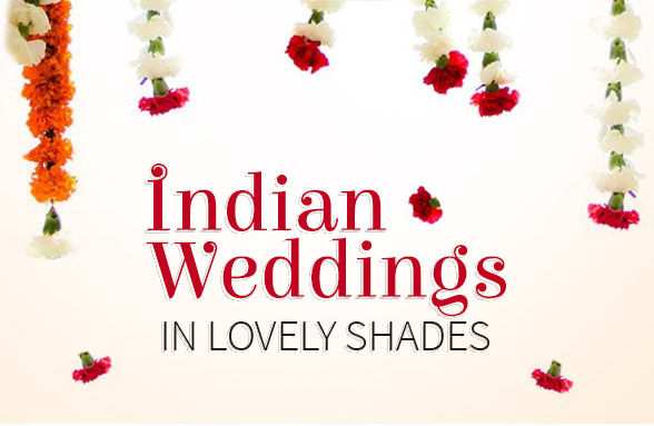 Colors of Indian Wedding: Attires & jewelry in Red, White, Green & Yellow. Shop!
