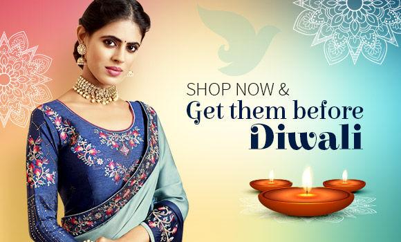 Diwali Ready-To-Ship: South sarees, Woven sarees, Pakistani suits, Kurta Pajamas for men & More. Shop!