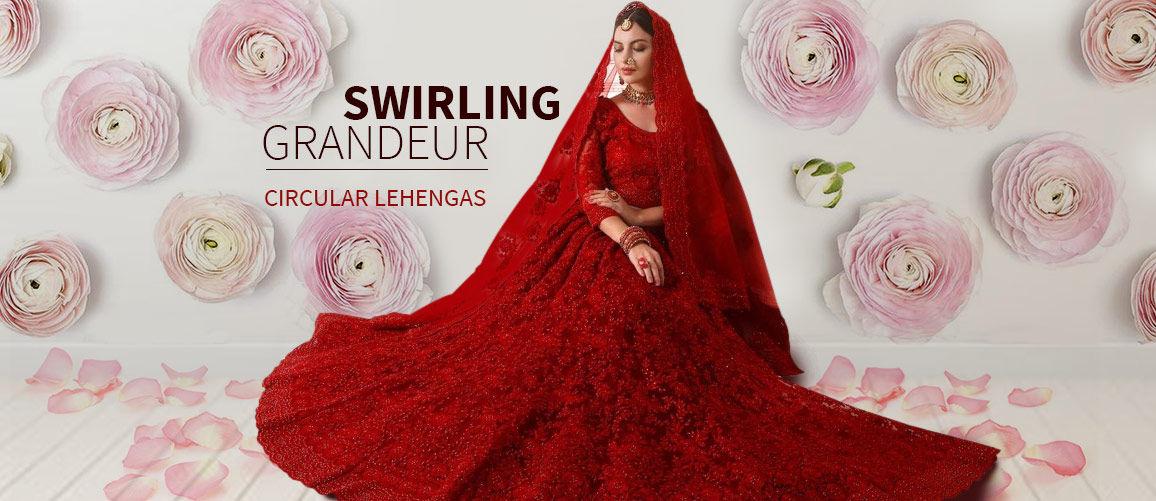 Circular Lehengas for Summer Weddings. Shop!