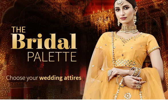 Colors of Indian Wedding: Attires in Pastel Green, Yellow, Light Blue, Lilac & Orange. Shop!