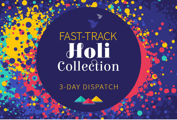 Holi array with 3-day dispatch: Woven Sarees, Pakistani suits, Menswear & more . Shop!