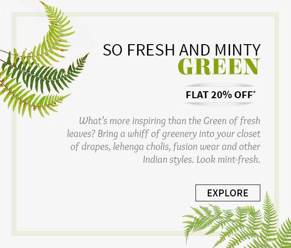 Flat 20% off on Green ensembles. Shop!