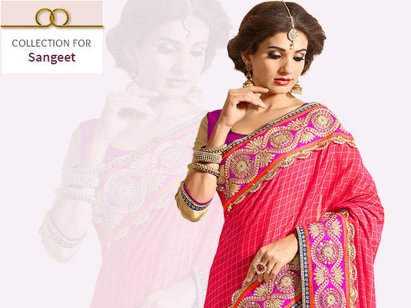 Floral print Lehengas, Anarkalis, Front Slit styles with Jewelry for Sangeet. Shop!