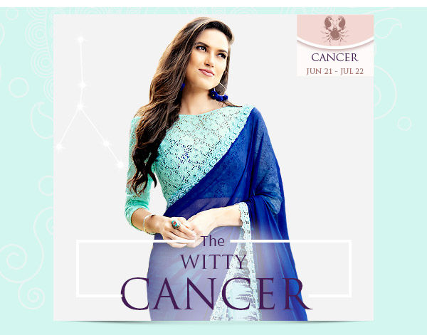 Cancer Closet: Blue-shaded Abayas, Anarkalis, Sarees in Georgette and Chiffon. Shop!