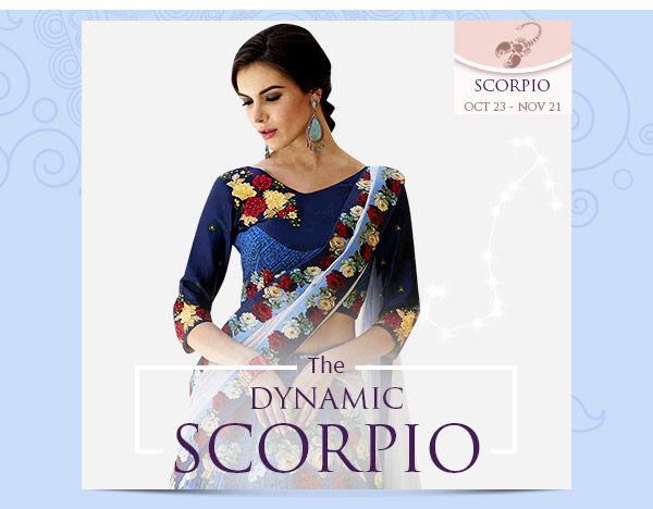 Scorpio Closet: Dark-colored Attires with bold prints. Shop!