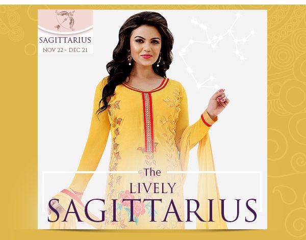 Sagittarius Closet: Georgette & chiffon Salwar Suits, Skirts, Kurtas in red & yellow. Shop!