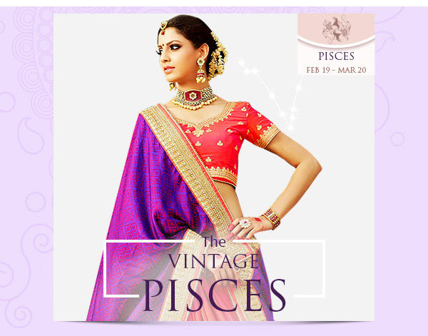 Pisces Closet:  Zari, Gota-patti, Brocade & jacquard sarees, Salwar Suits in purple. Shop!