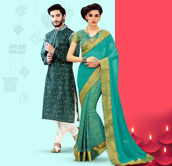 Party Wear & Casual Wear range of Attires & Accessories for Diwali Gifting. Shop!