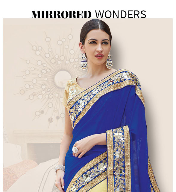 Spring summer trends have the latest addition of Mirror work, Enjoy!