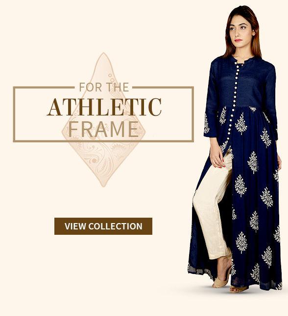 dd93ea6c7 Indo Western Long Kurtas for the Athtletic shaped women. Shop!