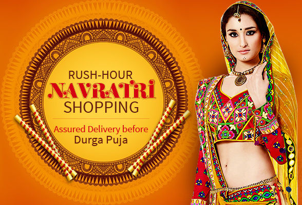 Navratri Ready to Ship Collection: Silk Sarees, Zari Suits, Lehengas, Skirts and more. Shop!